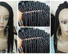 Braided lace wig