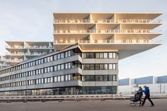 BIG's mixed-use 'transitlager' nears completion in switzerland