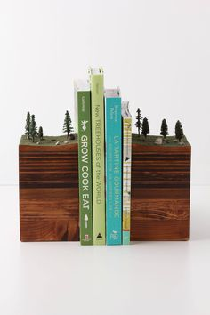 Bookends Of The Earth - anthropologie.com (Sigh... if only I still read paper books...)