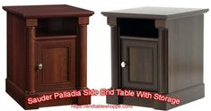 Solid Wood End Tables With Storage In Different Stylish Latest Designs Black End Tables, End Tables With Drawers, Wood End Tables, End Tables With Storage, Powell Furniture, Printer Stand, Pvc Tube, Office Items, Storage Drawers