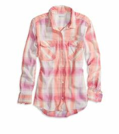 AEO Factory Girlfriend Button Down Shirt - Buy One Get One 50% Off