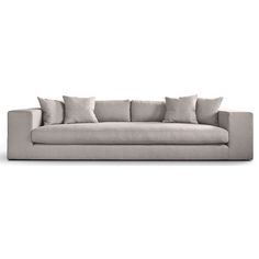 Barlow Fabric 4 Seater Sofa, Dove | ACHICA
