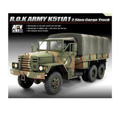 ACADEMY 1/35 Scale R.O.K Army K511A1 2.5ton Cargo Truck Plastic Model Kit #13293 #Academy