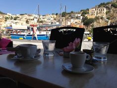 BARBARA C. - AUSTRALIA-ΕΚΠΡΟΣΩΠΟΣ ΤΗΣ ΕΛΛΑΔΑΣ:Having our morning coffee overlooking the harbour in beautiful picturesque Symi.