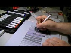 A speedy 2-minute look at creating a sketch-rendering of a Trudeau product using Copic pens & markers.