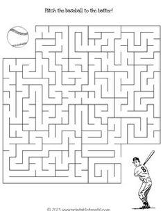 Printable Soccer Maze Games from PrintableTreats.com