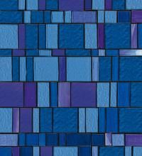 Liberty Collection Blue The unmistakable pattern of Liberty mosaic, which alternates smooth and corrugated tesserae to create chrome and iridescent textures, is enhanced by new designer shades.