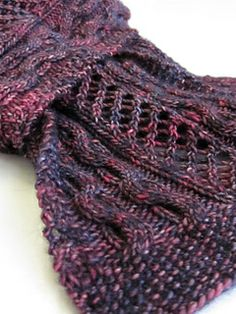 Kirkcaldy Scarf - lovely sock-weight scarf with cables and lace-free until June 4th, 2014