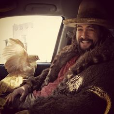 Jason Momoa, I just love his squinting eyes when he smiles!