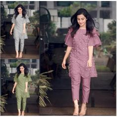 Most Stylish Bell Sleeve Kurti With Pant Sleeves Designs For Dresses, Dress Neck Designs, Kurti Neck Designs, Kurta Designs Women, Stylish Dress Designs, Latest Kurti Designs, Stylish Kurtis Design, Kurti Sleeves Design, Simple Kurti Designs