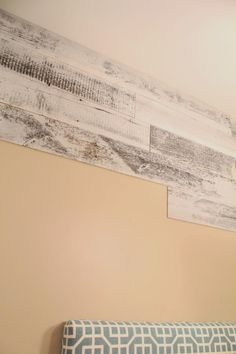 Peel and sick planks for walls.   When I painted my kitchen white I left one wall unpainted, on purpose of course. I'm slowly transitioning my ...