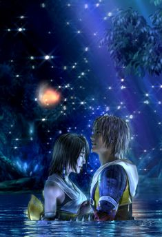 Final Fantasy X Tidus and Yuna Poster 13x19 by EspeonianPosters