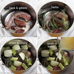Turkey Neck & Giblet Broth. It's quick and easy to make while the turkey cooks. Combine it with pan drippings to make gravy, or use it to moisten stuffing. from The Yummy Life