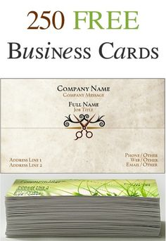 250 FREE Business Cards! {just pay s/h}