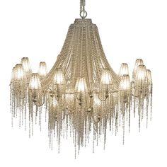beaded chandelier with beaded lampshades // PATRIZIA GARGANTI
