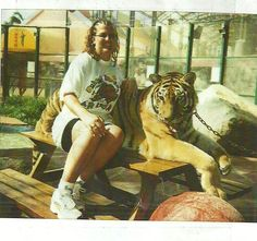 Got into a cage with a full grown tiger