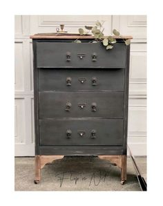 'Beauty can be found,Beauty in oldBeauty in newBeauty can be found if your looking for itDon't disregard what the eye naturally perceives as worthless 🖤This dresser, as soon as I saw it, I knew that it had to be black! A dark beauty! I'm not naturally drawn to dark pieces, but I couldn't help my need to have this one dark.Before Black Dressers, Small Dresser, Refinished Dressers, Modern Dresser, Wood Slat Wall, Wood Slats, Furniture Makeover, Diy Furniture, Repurposed Furniture