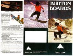 Vintage Burton Snowboard Catalog c. 1979-80.