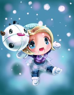 Chibi Winter Wonder Orianna by Lighane on DeviantArt