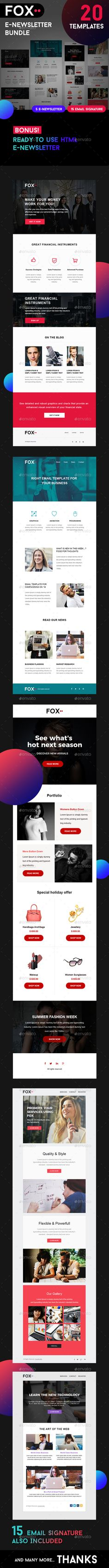 Fox - PSD + HTML Email Template