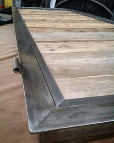Porta in ferro brunito e legno Burnish steel door and wood