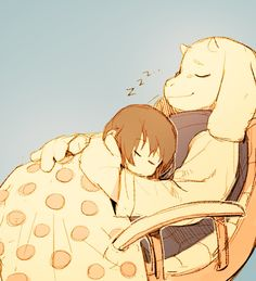 It's too cute it's frisk and toriel I think she makes an amazing mother ❤️ Undertale Toriel, Undertale Ships, Undertale Fanart, Undertale Background, Sans Cute, Toby Fox, Little Games, Indie Games, Anime