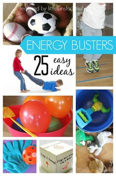 25 easy ideas for indoor gross motor play. These indoor gross motor activities make great energy busters for when the kids are stuck inside. Try one or all.