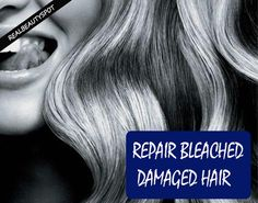 Repair Bleached Hair Tips ~ Bleaching damages your hair. It robs away the natural moisturizer from your hair, makes it brittle and your tresses become. Coconut Oil Hair Treatment, Coconut Oil Hair Growth, Bleach Damaged Hair, Damaged Hair Repair, Oil For Curly Hair, Diy Hair Mask, Hair Masks, Natural Moisturizer, Bleached Hair