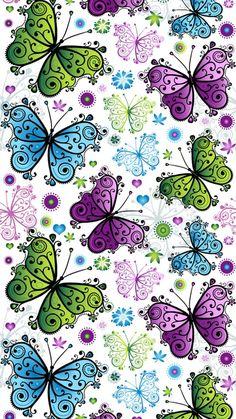 Desenho borboleta Butterfly Wallpaper Iphone, Flower Background Wallpaper, Flower Backgrounds, Cellphone Wallpaper, Wallpaper Backgrounds, Iphone Wallpaper, Apple Wallpaper, Pink Wallpaper, Pattern Wallpaper