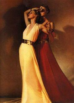 Harper's Bazaar 1936 Madeleine Vionnet dresses George H. Madeleine Vionnet, 1930s Fashion, Timeless Fashion, Retro Fashion, Vintage Fashion, Glamour Hollywoodien, Hollywood Glamour, Vintage Outfits, Vintage Dress