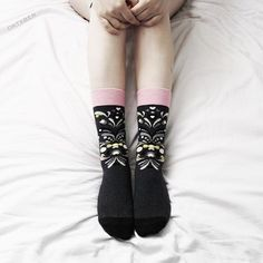 """""""I'm so in love with these socks from @happysocksofficial  They are so cute and so comfy  #HappinessEverywhere #HappySocks"""" Photo taken by @oktxber on Instagram, pinned via the InstaPin iOS App! http://www.instapinapp.com (07/26/2015)"""