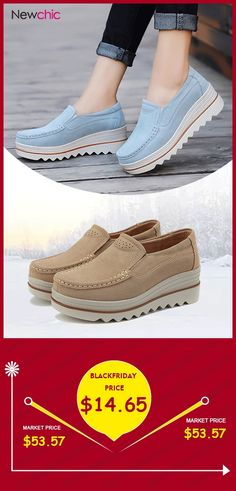 1f71d72c5e5  Black Friday Womens Breathable Suede Round Toe Slip On Platform  Shoes. fashion