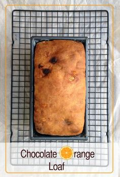 CHOCOLATE ORANGE LOAF Recipe - This is a recipe for a delicious breakfast loaf that is very easy to make. With the addition of chocolate and mixed peel, it's great on its own, or with marmalade, jam or even toasted and spread with a little butter.