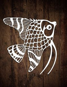 PERSONAL USE Papercutting Template Tropical Fish by LoveLeelaArt