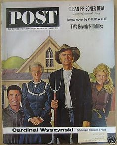 Saturday Evening Post Magazine February 1963 Featuring: The Beverly Hillbillies by hobohillfarm on Etsy Old Magazines, Vintage Magazines, American Gothic Parody, The Beverly Hillbillies, Saturday Evening Post, Stars Then And Now, Famous Words, Hillbilly, Classic Tv