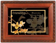 Friendship Woodgrain Music Box Plays Friends Are For