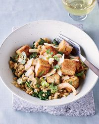 Five-Spice #Tofu with Barley and #Kale Recipe