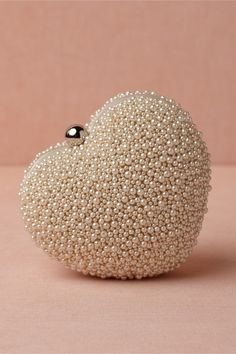 Beaded Heart Clutch