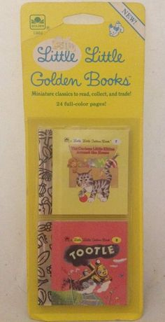 Miniature Little Little Golden Books 1988 Tootle And The Curious Little Kitten