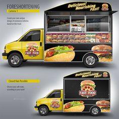 Top 8 Super Eye-catching Food Truck Mockup | psdmockups.net