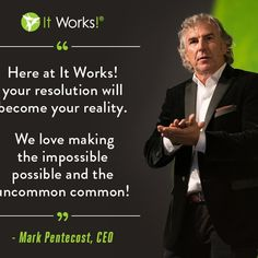 """It Works Global CEO Mark Pentecost """"Our Time!"""" Anyone can succeed with it works!! Let me help you reach your goals and dreams! You will never be in this alone we are a family lets go to the top together! angelwraps820.myitworks.com"""