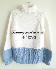 Купить или заказать В НАЛИЧИИ! Теплый двухцветный свитер в интернет магазине на Ярмарке Мастеров. С доставкой по России и СНГ. Материалы: 50% шерсть 50% акрил. Размер: S/M
