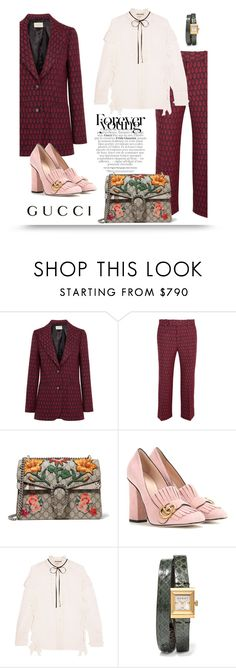 """""""31.08.16"""" by bliznec ❤ liked on Polyvore featuring Gucci, gucci, polyvoreeditorial and polyvorefashion"""