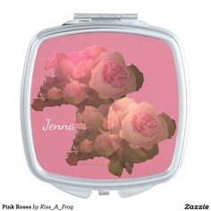 Enjoy your reflection with Zazzle's Pink compact mirrors. Check, apply or touch-up your makeup while away from home! Cool Mugs, Compact Mirror, Makeup Tools, Makeup Yourself, Pink Roses, Collections, Rose