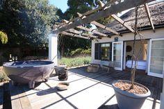 Dutch Design meets Cape Dutch in Constantia with this amazing Villa. SA Decor and Design had the pleasure of experiencing it's magic. Outdoor Tub, Outdoor Decor, Cape Dutch, Terrace, Villa, Relax, Patio, The Originals, Luxury