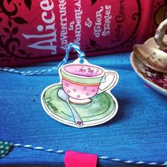 Tea  cup hangie decoration  £8.00 #folksyfriday