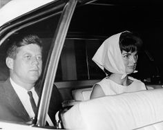 merican President John F. Kennedy and Mrs. Jacqueline Kennedy arrive at St. Mary's Hospital to visit Joseph P. Kennedy who was hospitalized, December 20th, 1961.
