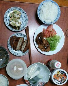 6月18日(水) 雨 うすかつ 玉子焼き 野菜の天ぷら キムチ 61.5