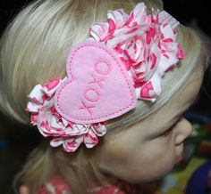Valentine's Day Headband Valentine Headband by mysweetbee on Etsy, $10.00