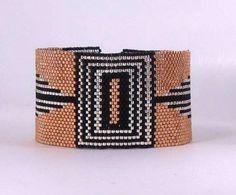 Art Deco Beaded Peyote Bracelet Pattern
